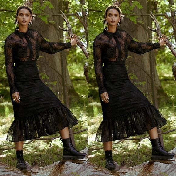 [Sandra Mansour x H&M] Embroidered Organza Skirt